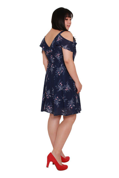 *Exclusive* Heather Floral Dress (Navy Blue), Dress, 1214 Alley