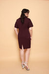 Waves Shift Dress (Deep Red)