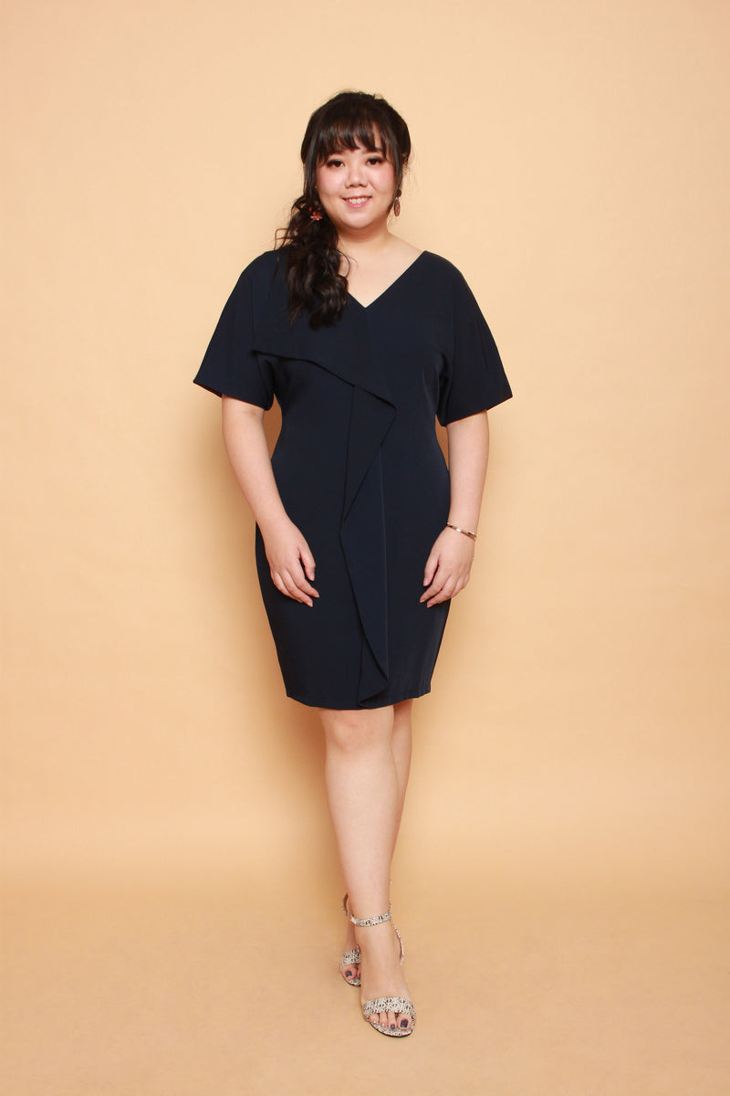 Waves Shift Dress (Navy), Dress - 1214 Alley
