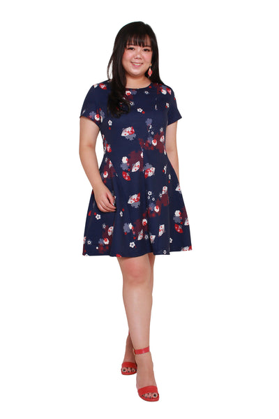 *Exclusive* Coretta Skater Dress (Oogi Prints)