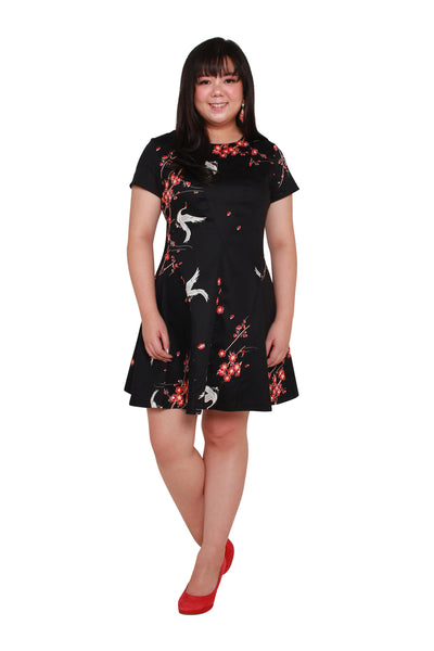 *Exclusive* Coretta Skater Dress (Plum Blossom), Dress, 1214 Alley