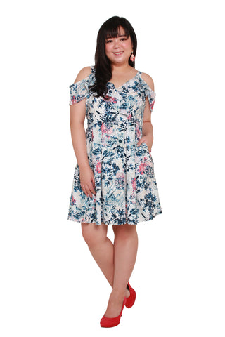 *Exclusive* Heather Floral Dress (White), Dress, 1214 Alley