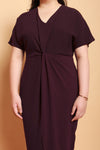 Twist Knot Dress (Deep Red)