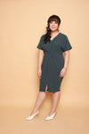Twist Knot Dress (Deep Teal), Dress - 1214 Alley