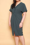 Twist Knot Dress (Deep Teal)