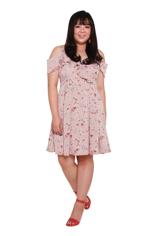 *Exclusive* Heather Floral Dress (Blush), Dress, 1214 Alley