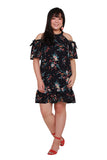 *Exclusive* Gille Flute Hem Dress (Floral), Dress, 1214 Alley