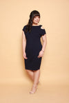 Keyhole Shoulder Dress (Navy), Dress - 1214 Alley