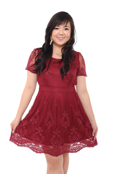 (Exclusive) Angelic-V2 Dress (Red Wine), Dress, 1214 Alley