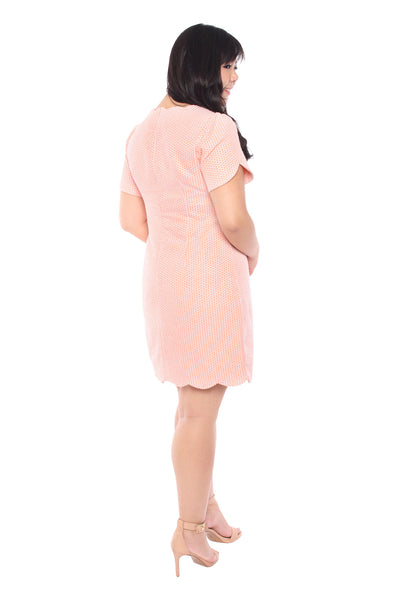 (Exclusive) Scallop Hem Jacquard Dress (Pink), Dress, 1214 Alley
