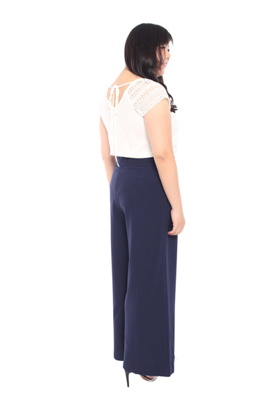*Exclusive* Classic Wide Leg Pants (Navy Blue), Bottoms - 1214 Alley