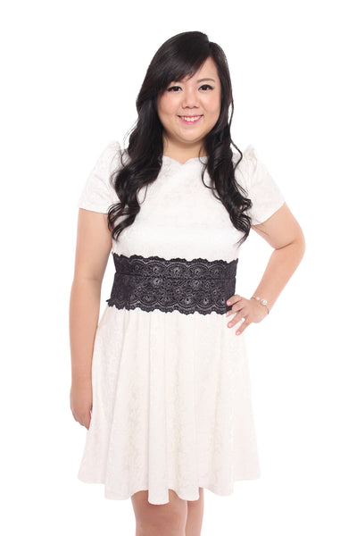 Brocade Dress (Pure White), Dress, 1214 Alley