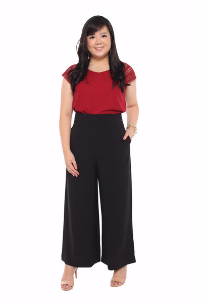 *Exclusive* Classic Wide Leg Pants (Black), Bottoms - 1214 Alley