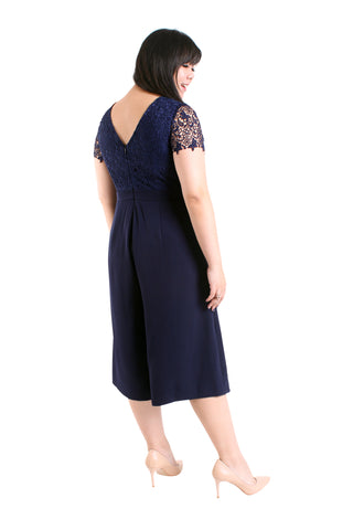 *Exclusive* Lace Top Midi Jumpsuit (Navy Blue), Dress, 1214 Alley