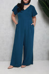 Side Slit Jumpsuit (Lush Teal)