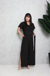 Side Slit Jumpsuit (Black)