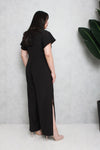 Side Slit Jumpsuit (Black), One-Piece - 1214 Alley
