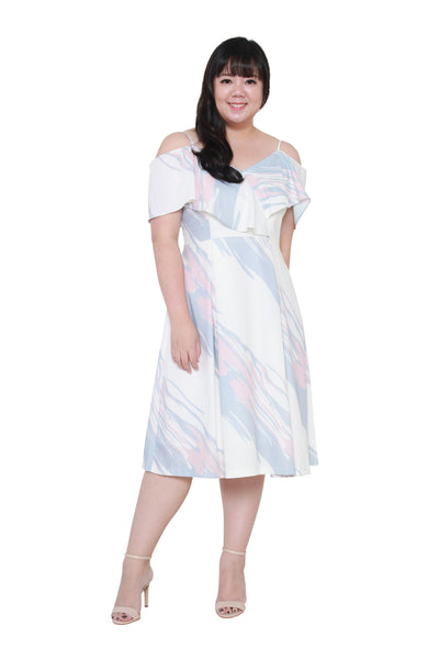 *Exclusive* Mila Midi Dress (White), Dress, 1214 Alley