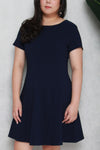 Classic Skater Dress (Navy Blue), Dress - 1214 Alley