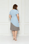 Pleated Colour Block Dress (Powder Blue), Dress - 1214 Alley