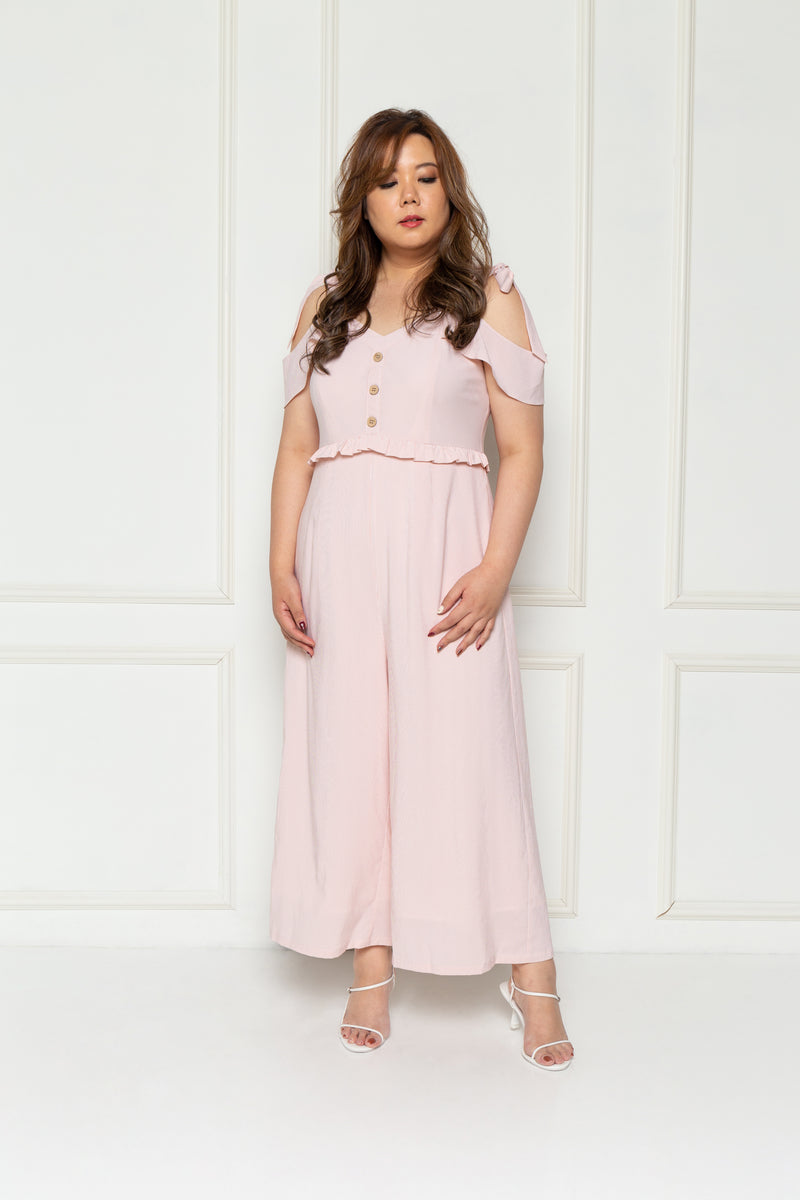 Stripes Midi Jumpsuit (Pink), One-Piece - 1214 Alley