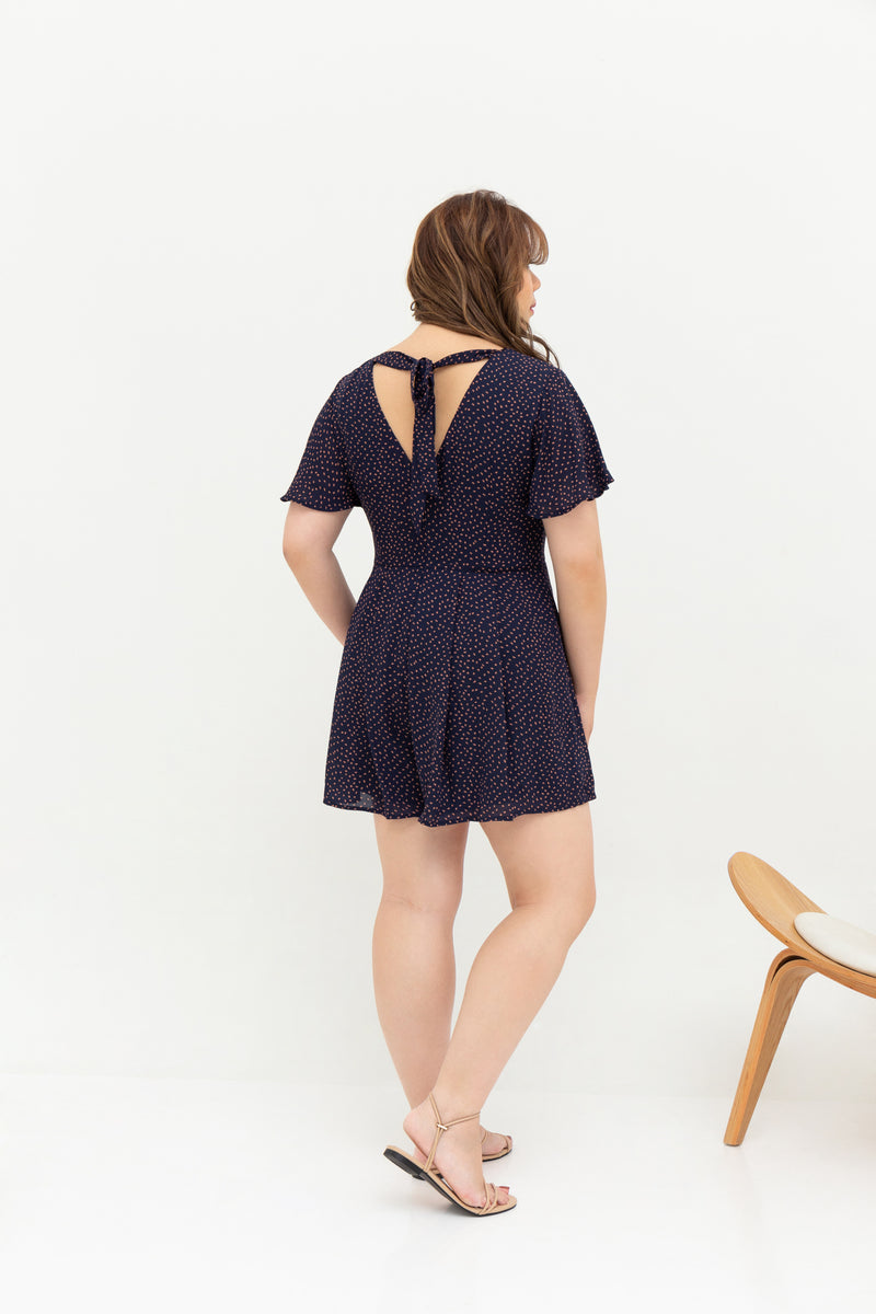 Saffron Romper (Navy), One-Piece - 1214 Alley