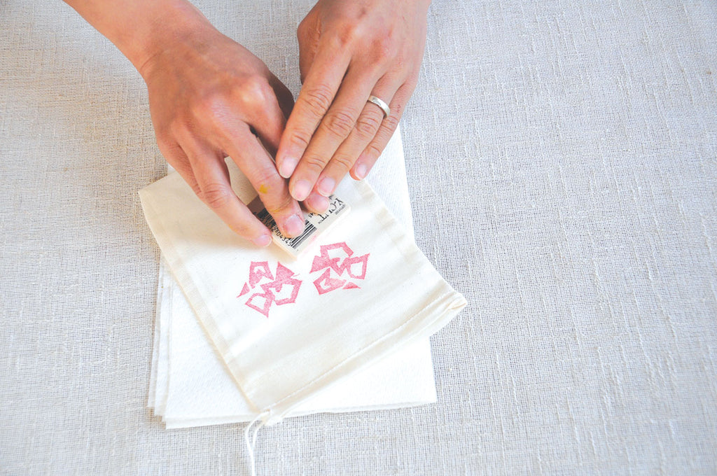block printing on fabric