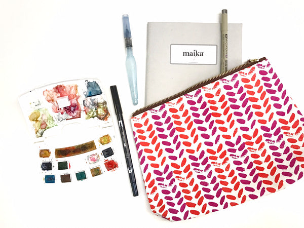 journaling supplies in Maika pouch