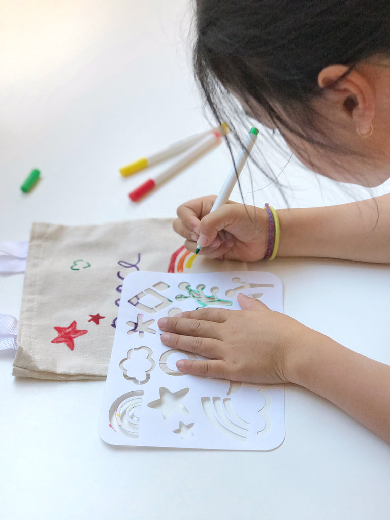 Stencil a tote with MAIKA DIY kit