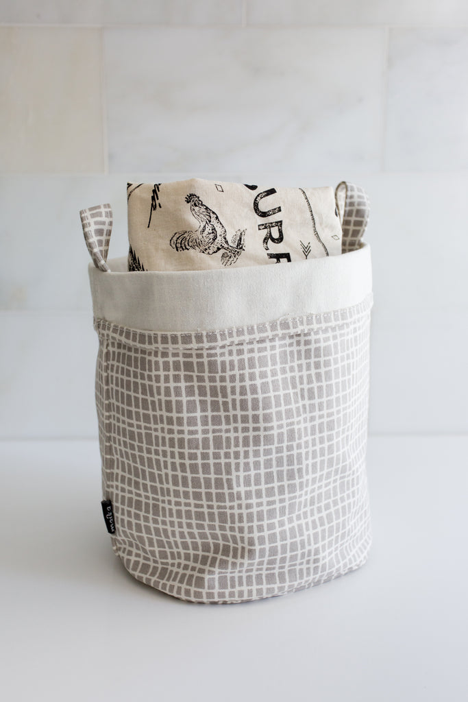 reusable bags in MAIKA canvas bucket