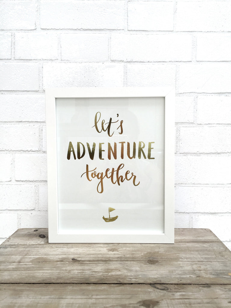 adventure together art print