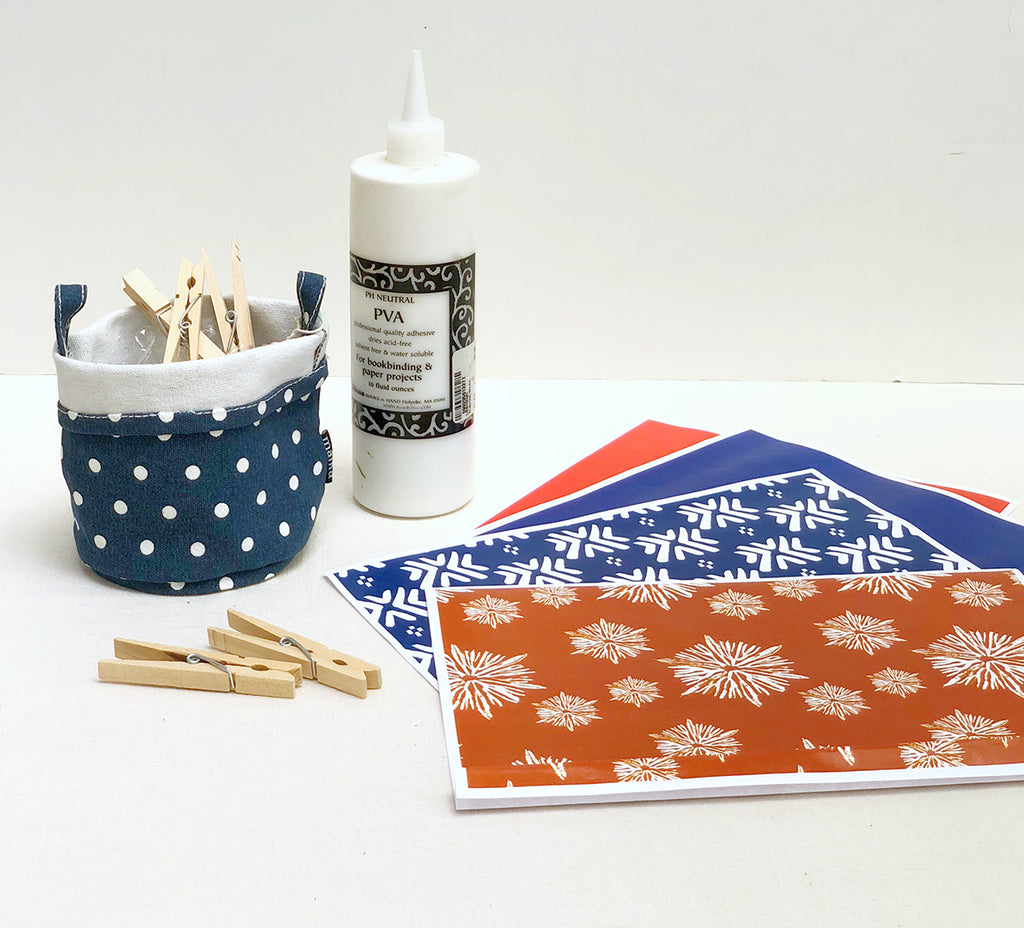 Supplies for DIY 4th July Pinwheels