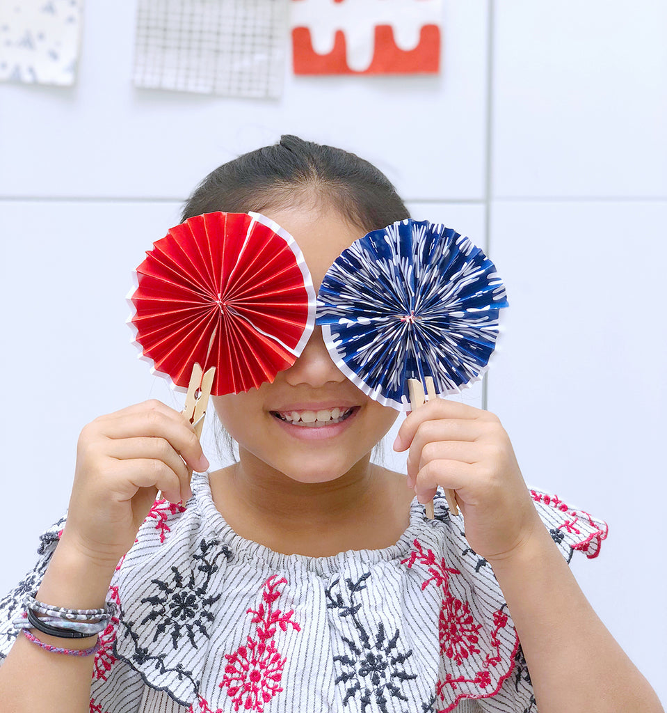 DIY 4th July Pinwheels