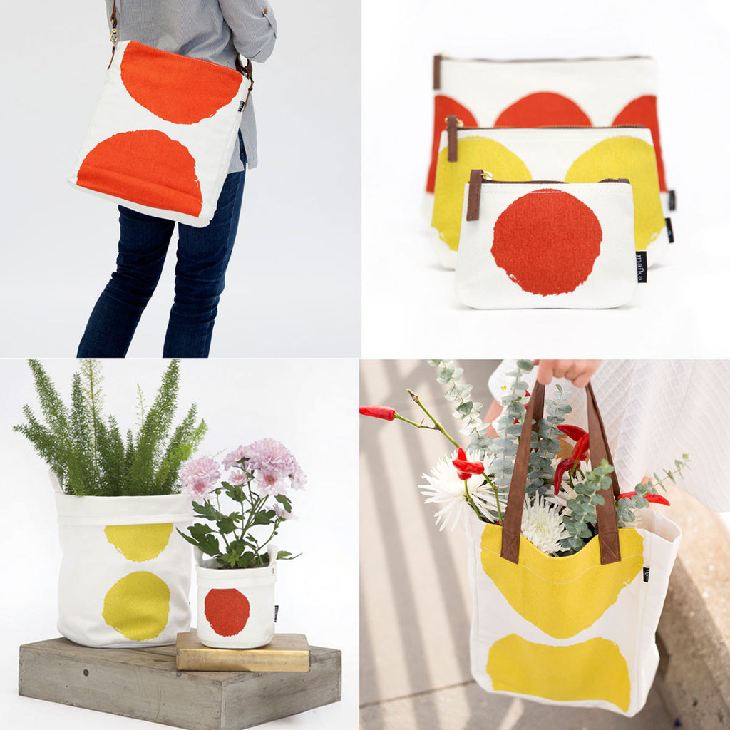 maika luna collection of canvas bags and buckets