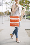 Crossbody Bag - Tangerine Stripes