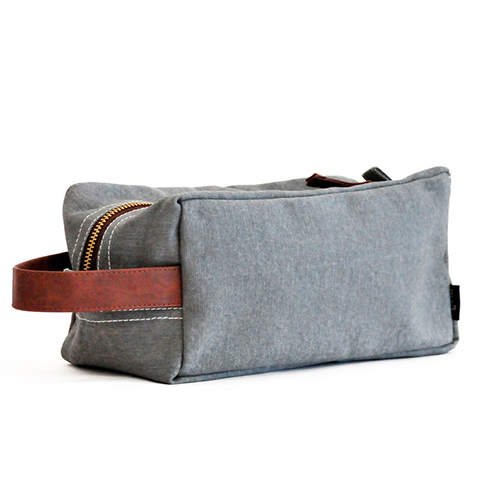 Ash Waxed Canvas Travel Case