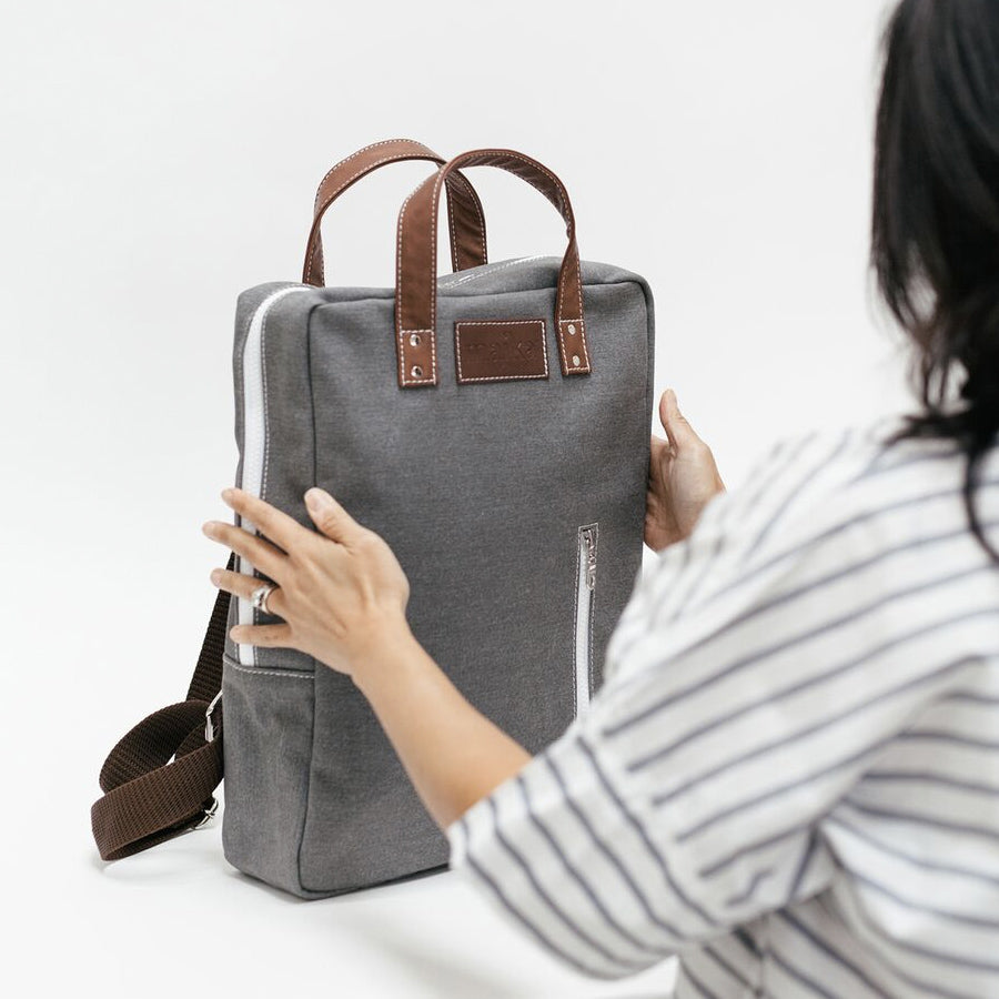 NEW! WAXED ASH LAPTOP BACKPACK