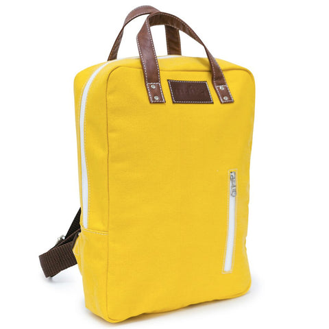 NEW! WAXED MUSTARD LAPTOP BACKPACK