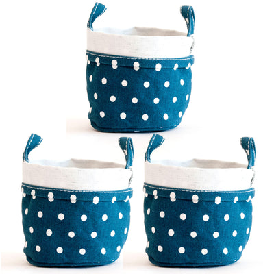 Set of 3 Canvas Buckets (Small)