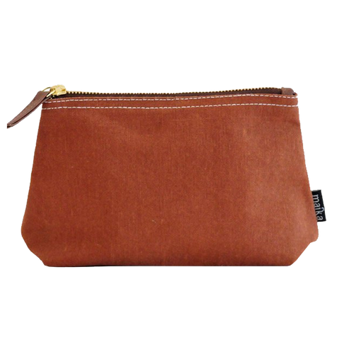 Camel Waxed Canvas Pouch