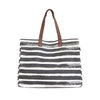Carryall Tote - Charcoal Stripes