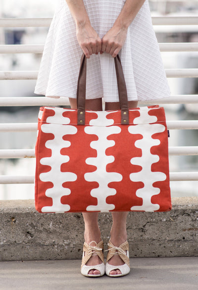 Carryall Tote - Tangerine Echo