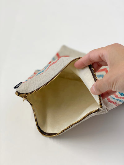 100% Linen Limited Edition Foldover Pouch (Lined)