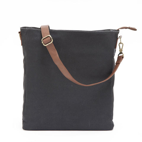NEW! Waxed Black Canvas City Sling