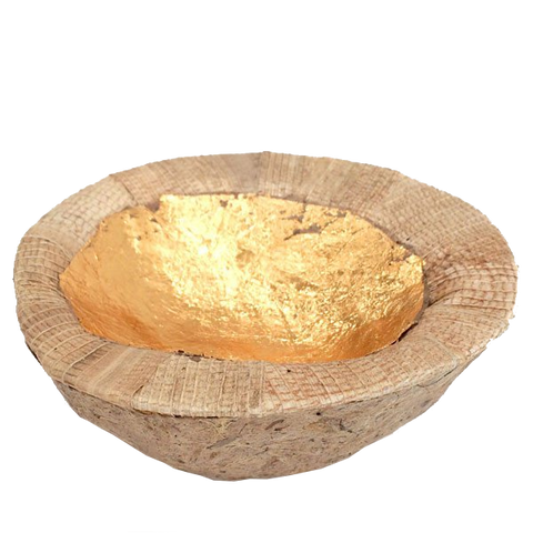 Gold Leaf Coconut Bowl