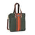 NEW! Commuter Tote - Mod Stripe Terracotta/ Moss