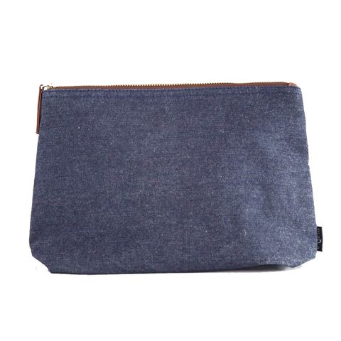 Indigo Denim Canvas Pouch