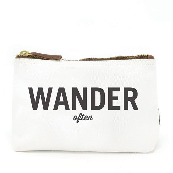 Wonder/ Wander (2-sided) Canvas Pouch
