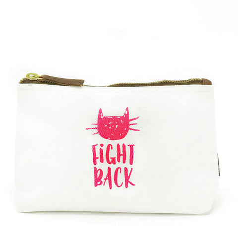 Pussy Fight Back! Neon Pink Canvas Pouch