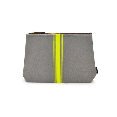 NEW! Travel Pouch - Mod Stripe Lime/ Ash